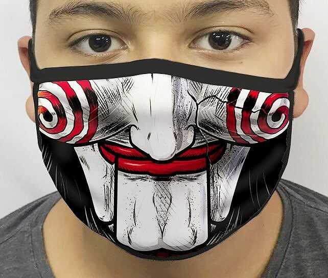 Máscara de Tecido Personalizada Boca Jigsaw Reutilizável - EV
