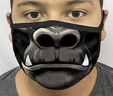 Máscara de Tecido Personalizada Boca Kong Reutilizável