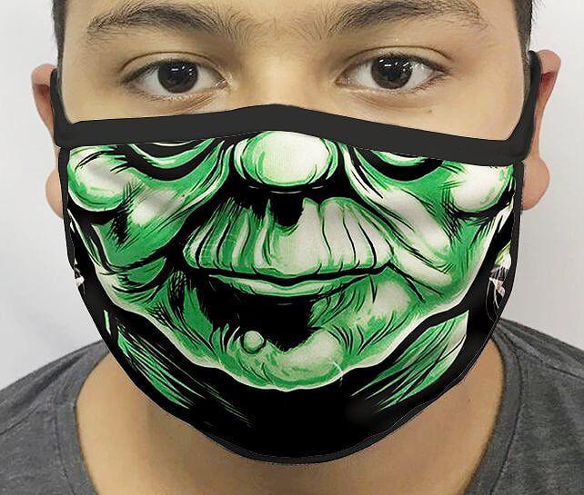 Máscara de Tecido Personalizada Boca Mestre Yoda Reutilizável - EV