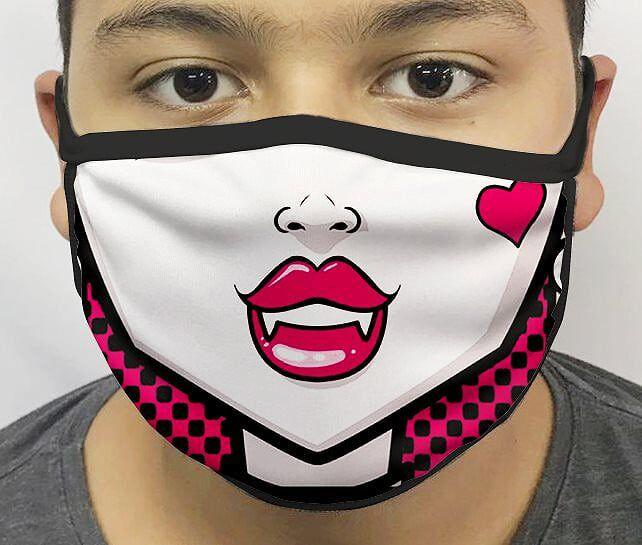 Máscara de Tecido Personalizada Boca Moster High Reutilizável - EV