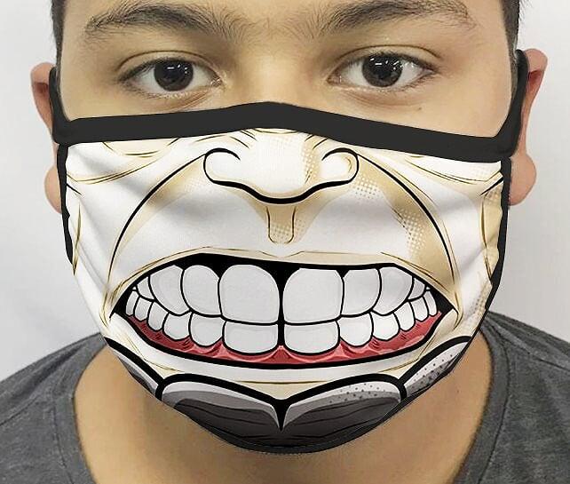 Máscara de Tecido Personalizada Boca Rino Reutilizável - EV