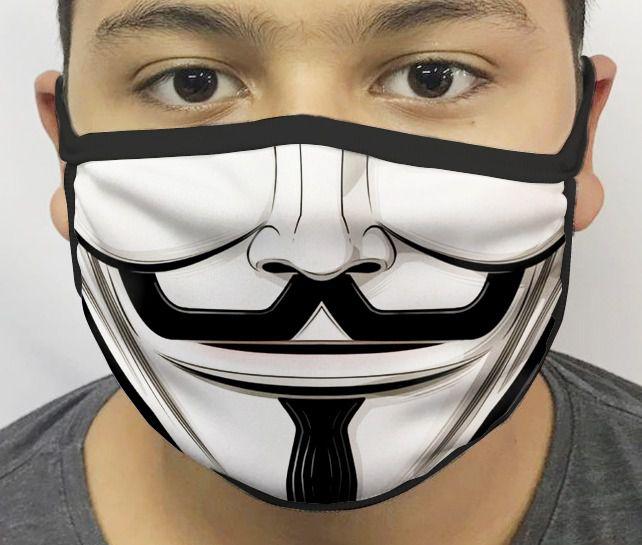 Máscara de Tecido Personalizada Boca V de Vingança Reutilizável - EV