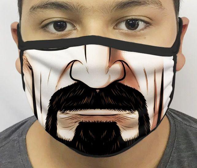 Máscara de Tecido Personalizada Boca Walter White Reutilizável - EV