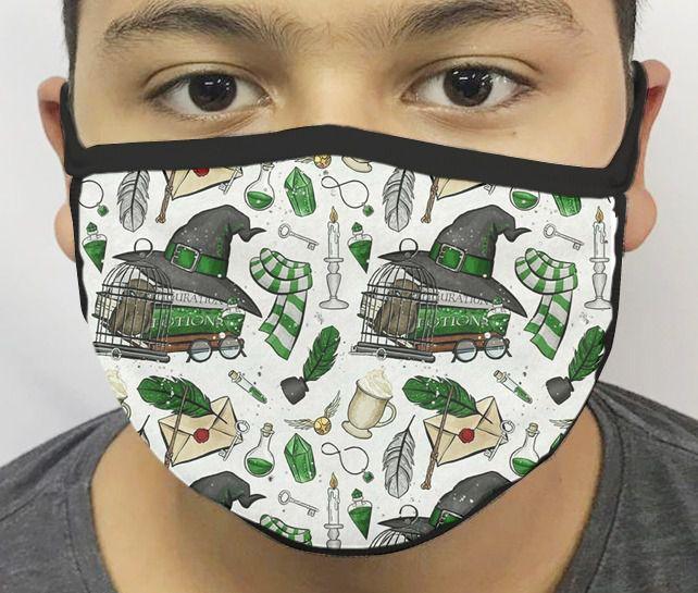 Máscara de Tecido Personalizada Bruxo 2 Reutilizável - EV
