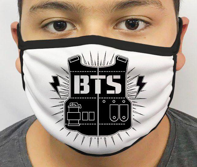 Máscara de Tecido Personalizada BTS Lavável Reutilizável - EV