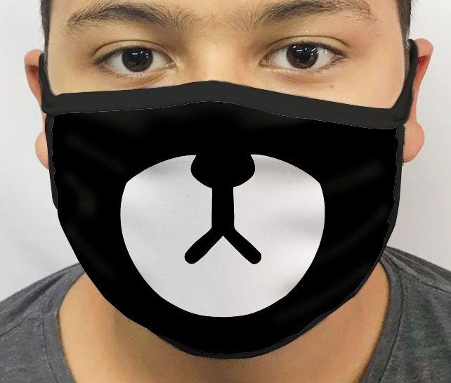Máscara de Tecido Personalizada BTS Urso Lavável Reutilizável - EV