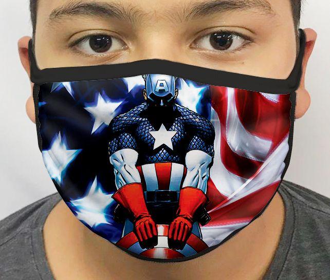 Máscara de Tecido Personalizada Capitão Lavável Reutilizável - EV