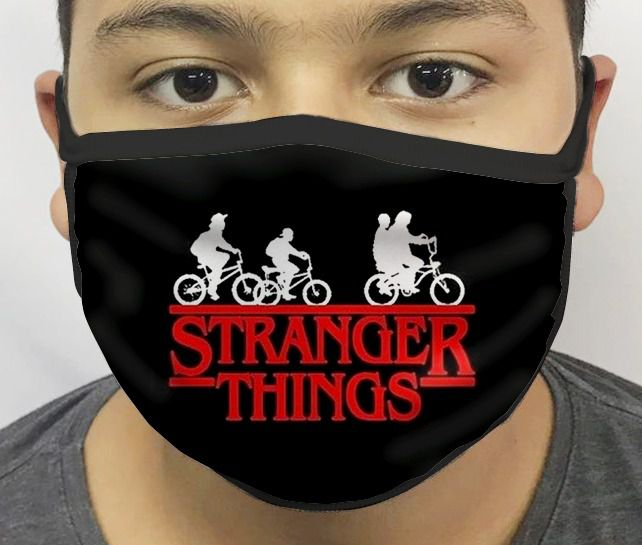 Máscara de Tecido Personalizada Coisas Estranhas Reutilizável - EV