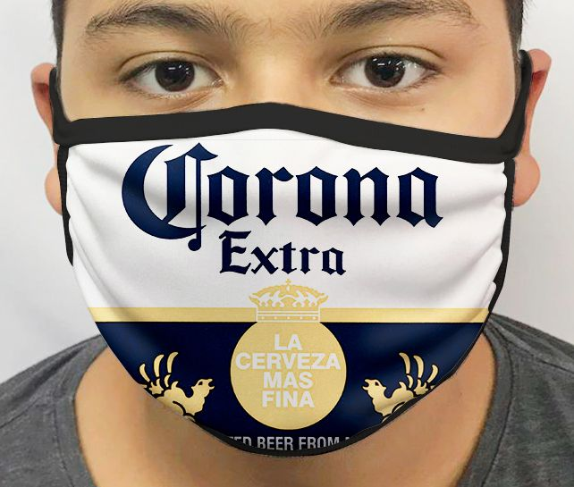 Máscara de Tecido Personalizada Cerveja 5 Lavável Reutilizável