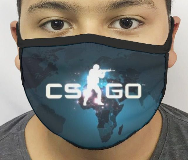 Máscara de Tecido Personalizada Counter Strike (CS-GO) Reutilizável - EV