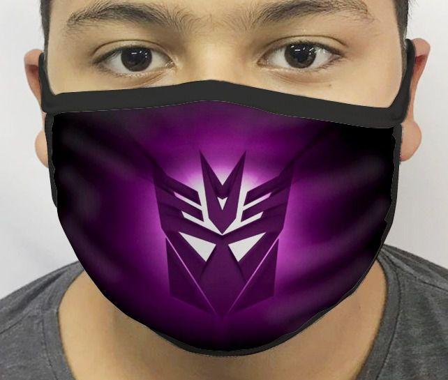 Máscara de Tecido Personalizada Decepticons Reutilizável - EV