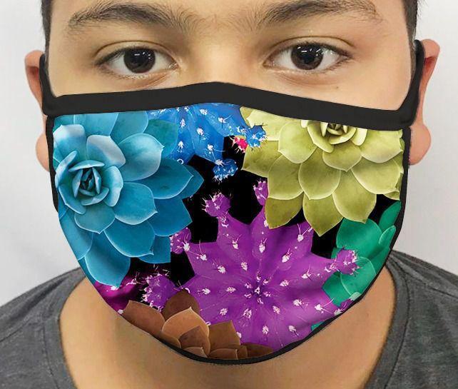 Máscara de Tecido Personalizada Flores Lavável Reutilizável - EV