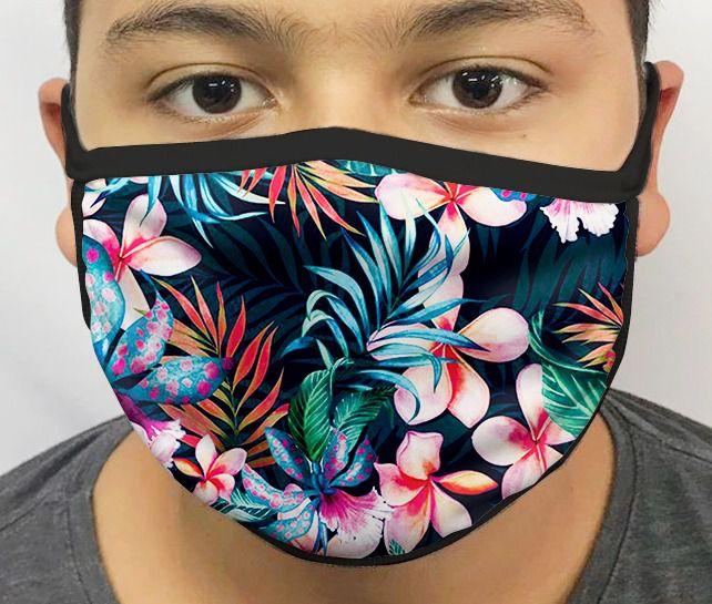 Máscara de Tecido Personalizada Floresta Lavável Reutilizável - EV