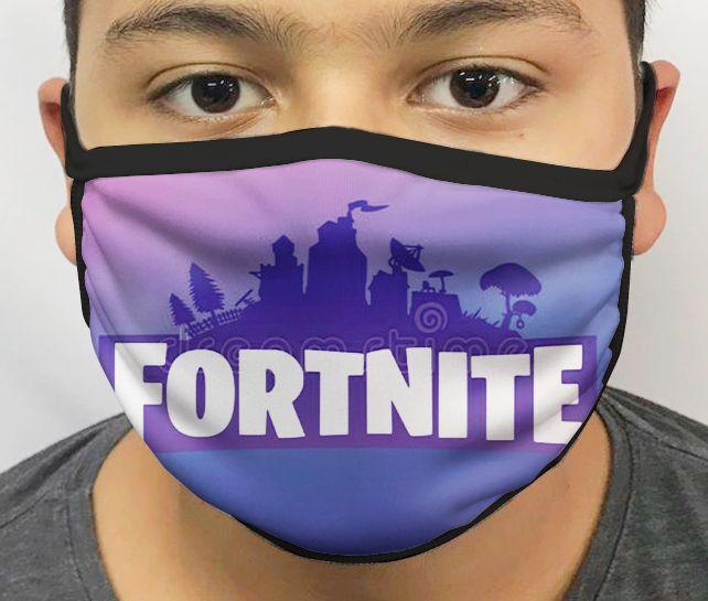 Máscara de Tecido Personalizada Fortnite Lavável Reutilizável