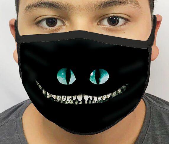 Máscara de Tecido Personalizada Gato da Alice Lavável Reutilizável - EV