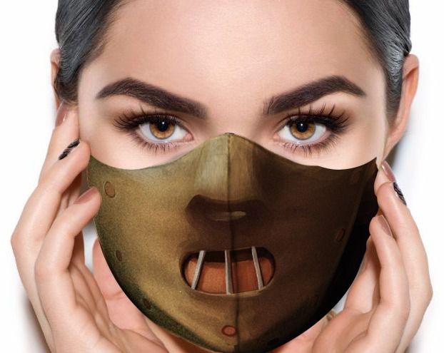 Máscara de Tecido Prime Personalizada Hannibal (Silencio Dos Inocentes) Lavável Reutilizável - EV