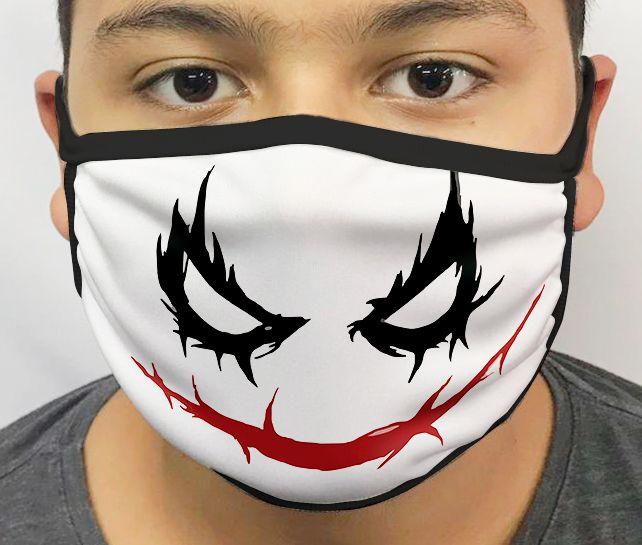 Máscara de Tecido Personalizada Palhaço (Grafite) Lavável Reutilizável