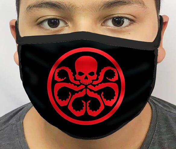 Máscara de Tecido Personalizada Logo Hydra Lavável Reutilizável - EV