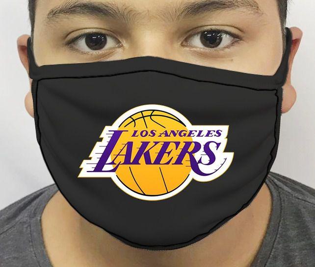 Máscara de Tecido Personalizada Los Angeles Lakers Reutilizável