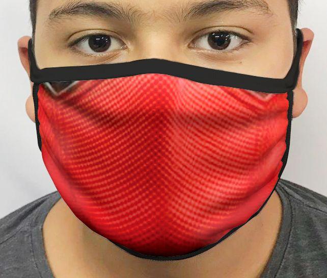 Máscara de Tecido Personalizada Máscara Deadpool Lavável Reutilizável