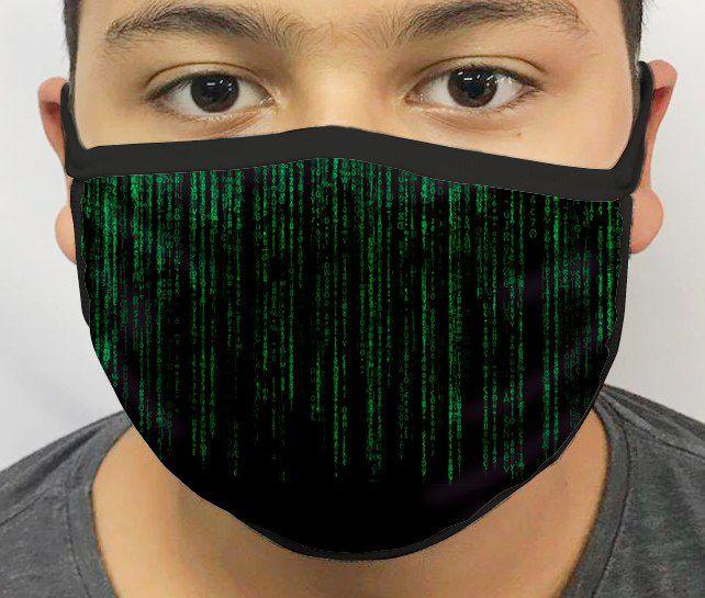 Máscara de Tecido Personalizada Matrix Lavável Reutilizável - EV