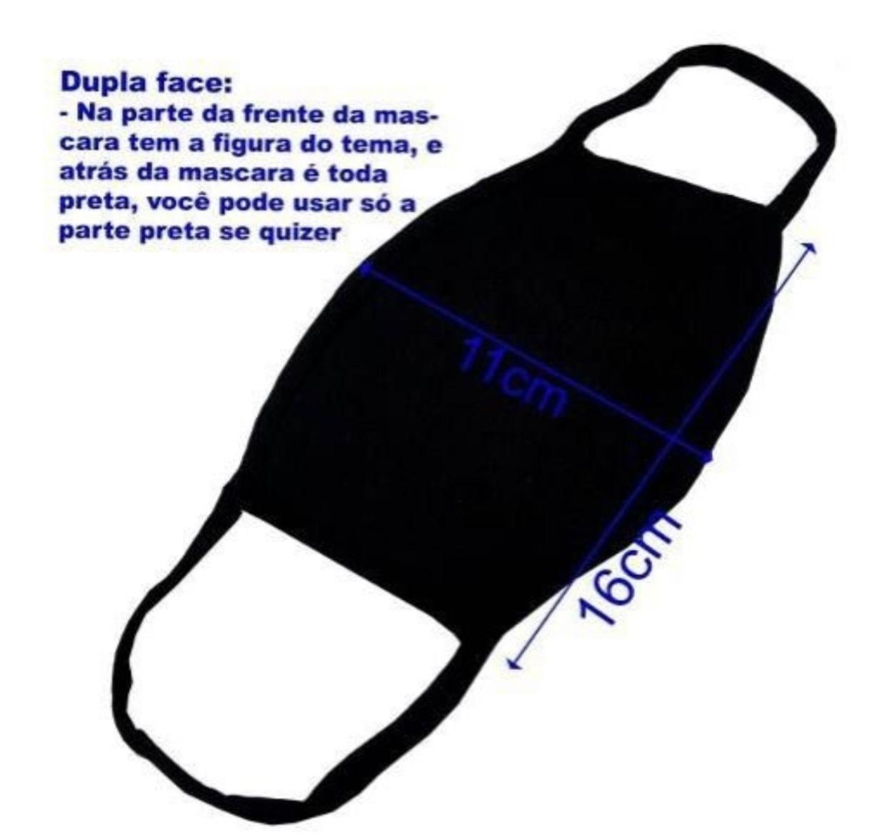 Máscara de Tecido Personalizada Ratinho & Amigos Lavável Reutilizável