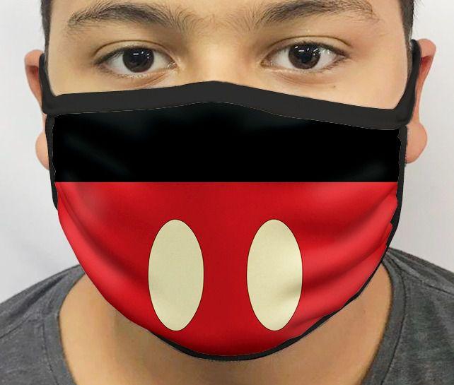 Máscara de Tecido Personalizada Roupa Ratinho Lavável Reutilizável