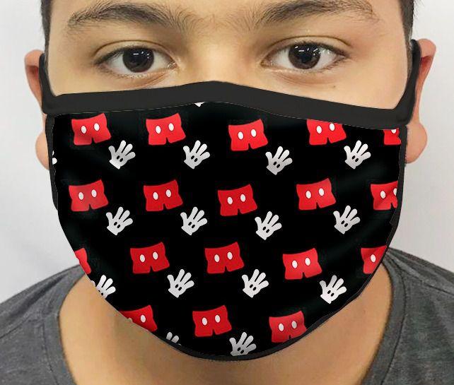 Máscara de Tecido Personalizada Luva Ratinho Lavável Reutilizável - EV