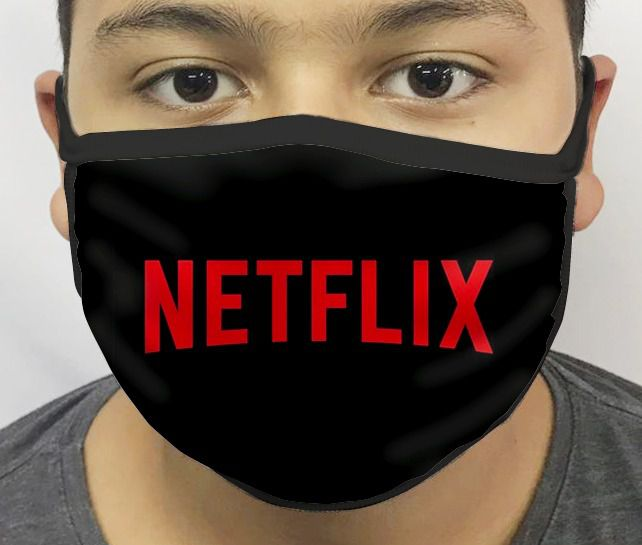 Máscara de Tecido Personalizada Netflix Reutilizável - EV