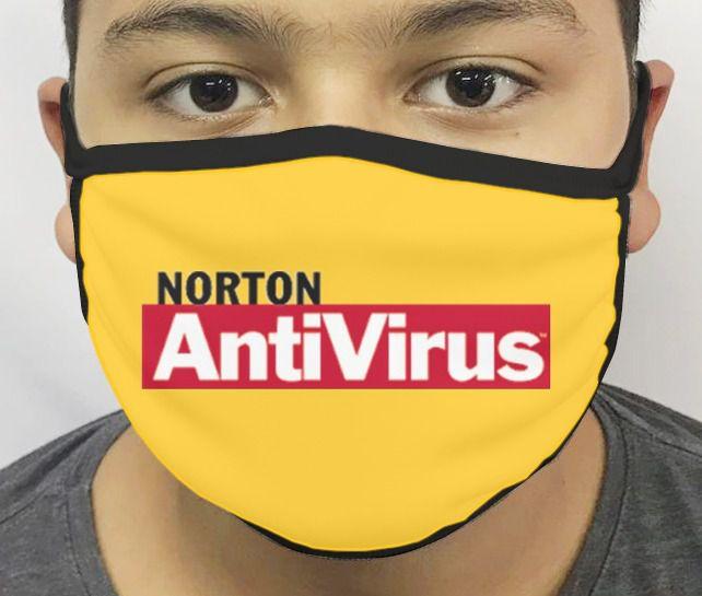 Máscara de Tecido Personalizada Norton (AntiVirus) Reutilizável - EV