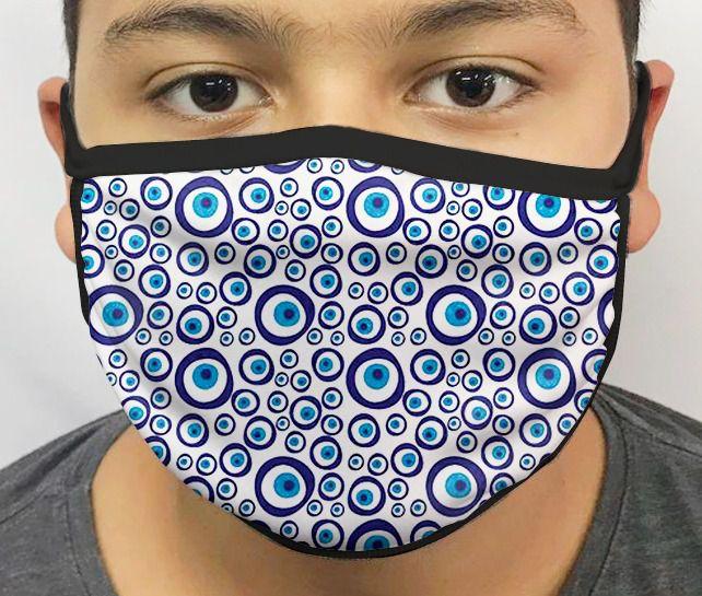 Máscara de Tecido Personalizada Olho Turco Lavável Reutilizável - EV