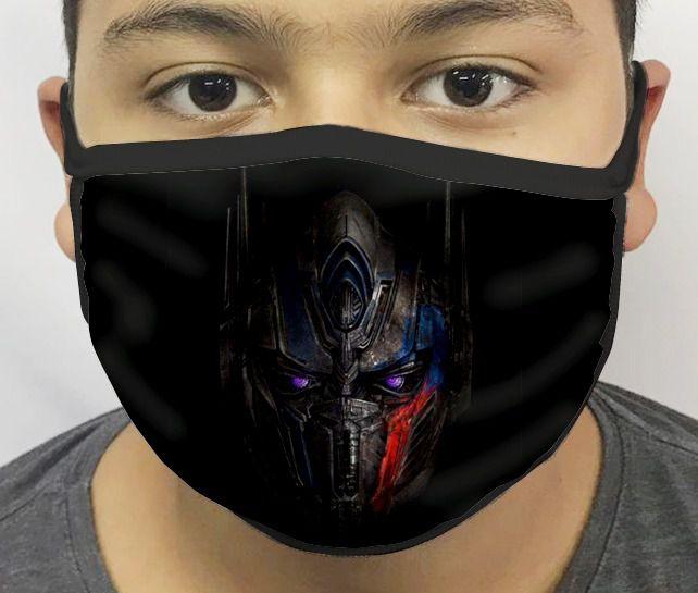 Máscara de Tecido Personalizada Optimus Prime Reutilizável - EV
