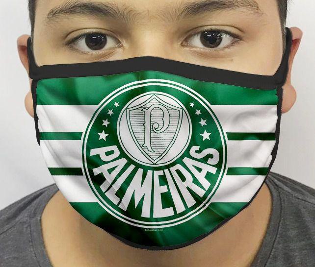 Máscara de Tecido Personalizada Time Palmeiras Reutilizável - EV