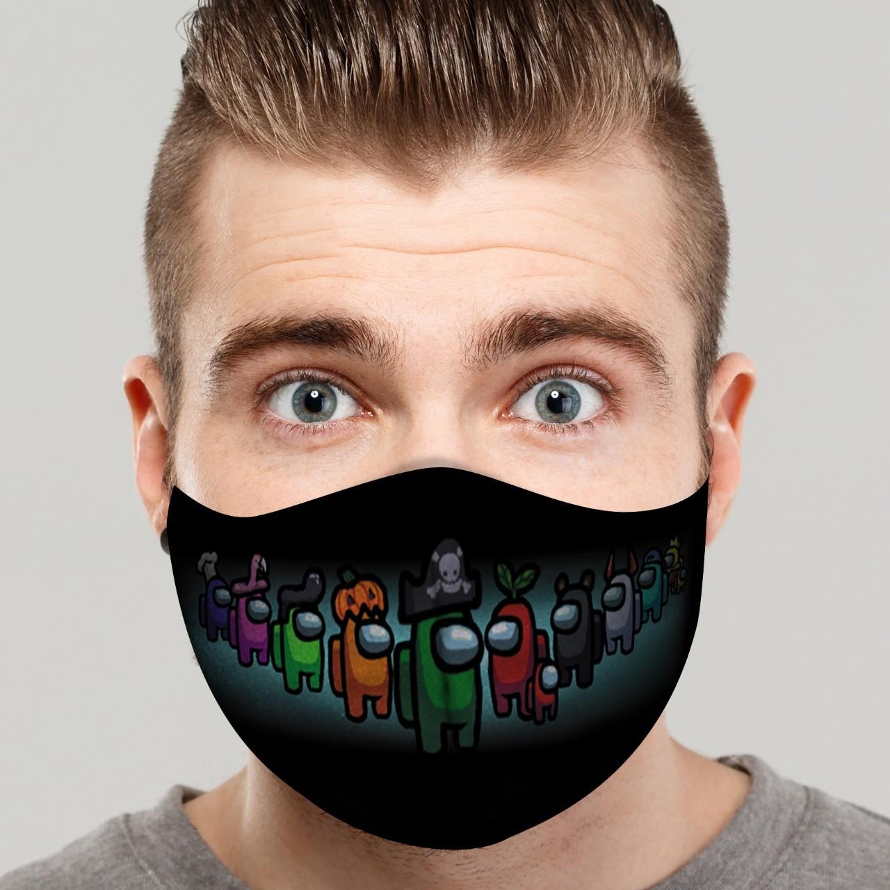 Máscara de Tecido Personalizada Personagens Among Us Lavável Reutilizável - EV