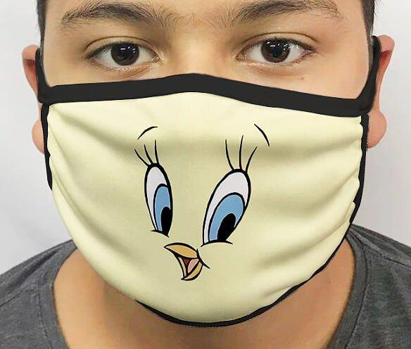Máscara de Tecido Personalizada Piu-piu Lavável Reutilizável - EV