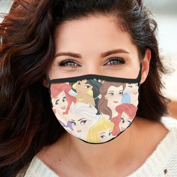 Máscara de Tecido Personalizada Princesas 2 Reutilizável - EV