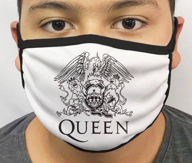Máscara de Tecido Personalizada Queen Lavável Reutilizável