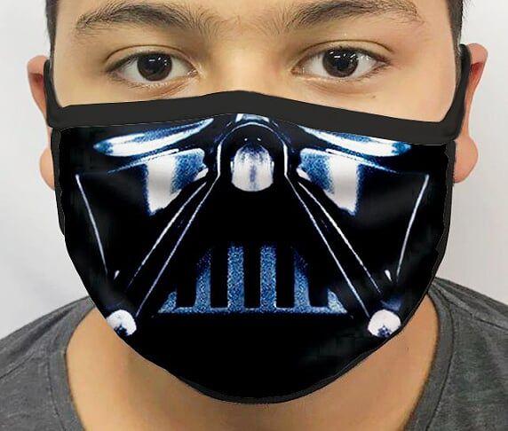 Máscara de Tecido Personalizada Respirador Dark side Lavável Reutilizável