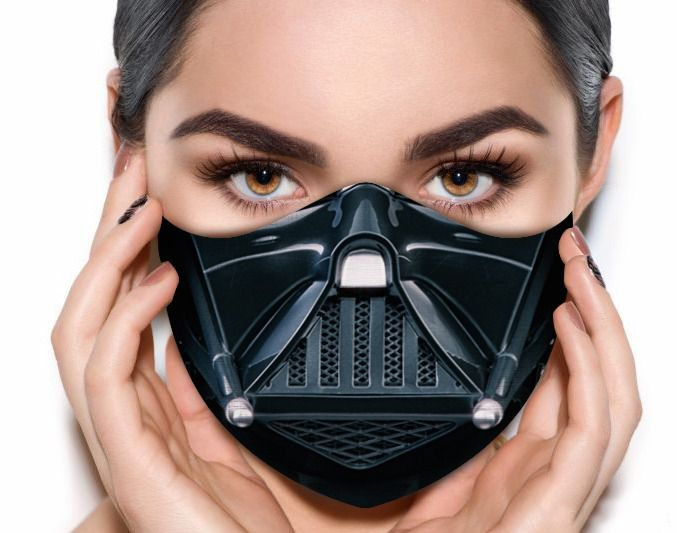 Máscara de Tecido Prime Personalizada Respirador Guerra nas Estrelas Reutilizável - EV
