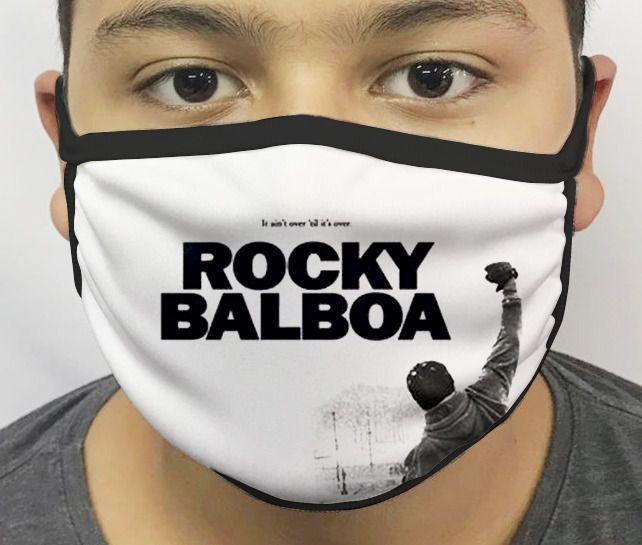 Máscara de Tecido Personalizada Rocky Balboa Lavável Reutilizável - EV