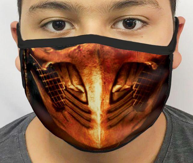 Máscara de Tecido Personalizada Scorpion MK X Lavável Reutilizável - EV