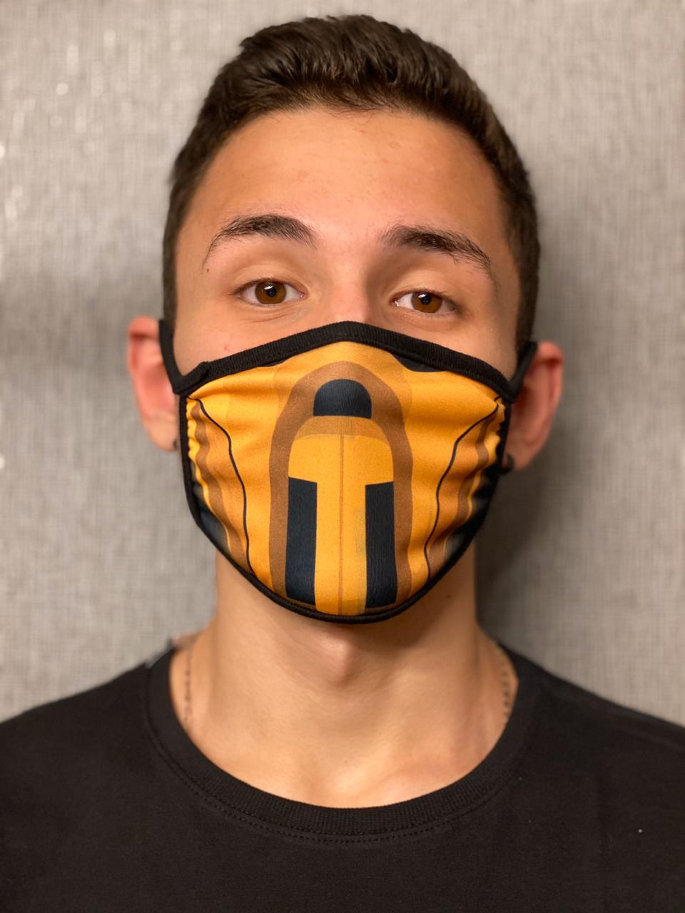 Máscara de Tecido Personalizada Scorpion Lavável Reutilizável - EV