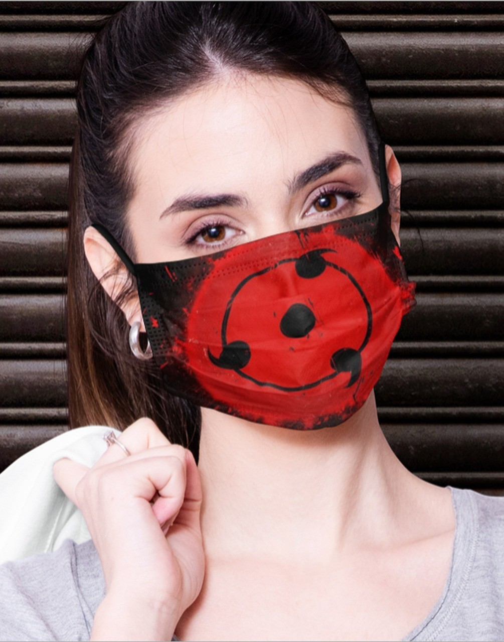 Máscara de Tecido Personalizada Sharingan Família Uchiha Reutilizável - EV