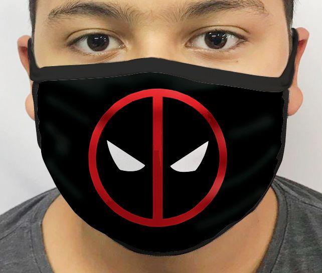 Máscara de Tecido Personalizada Símbolo Deadpool Lavável Reutilizável - EV