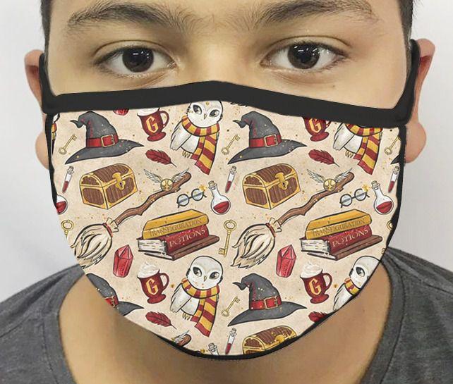 Máscara de Tecido Personalizada Símbolos Bruxo 3 Reutilizável - EV