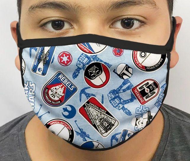 Máscara de Tecido Personalizada Símbolos Guerra nas Estrelas Lavável Reutilizável - EV