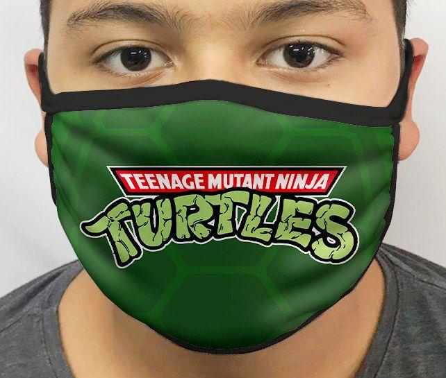 Máscara de Tecido Personalizada Tartarugas Ninjas Reutilizável - EV