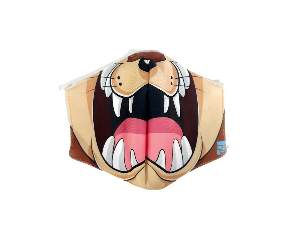 Máscara de Tecido Personalizada Taz: Looney Tunes Lavável Reutilizável