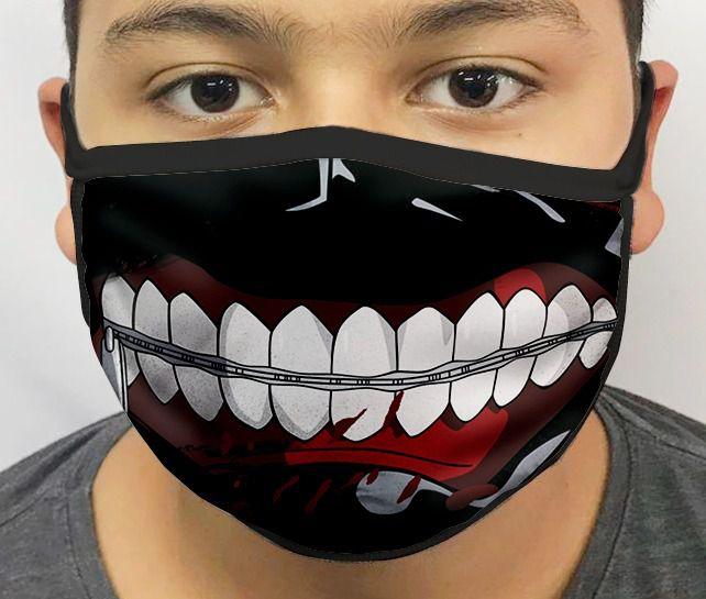Máscara de Tecido Personalizada Tokyo Ghoul Lavável Reutilizável - EV