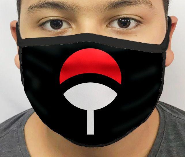 Máscara de Tecido Personalizada Uchiha Lavável Reutilizável
